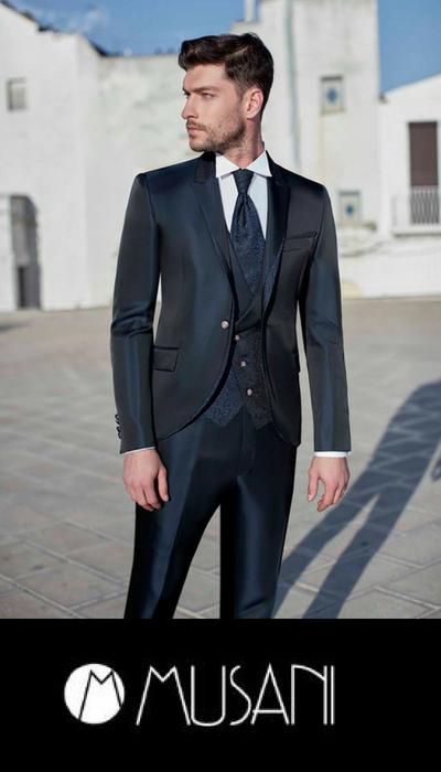 Vestito Matrimonio Uomo Azzurro : Abiti cerimonia uomo musani milano negozio sconti online
