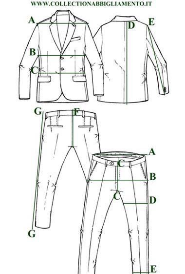 misure abito uomo