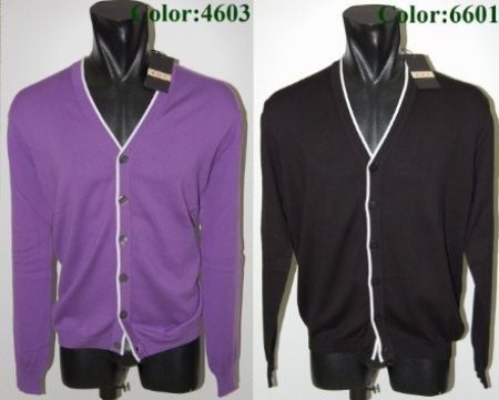 Bramante cardigans men slim fit 100% cotton