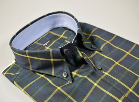 Camicia uomo ingram slim fit  verde a quadri