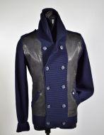 Cardigan giacca doppio petto slim fit daniele fiesoli blu