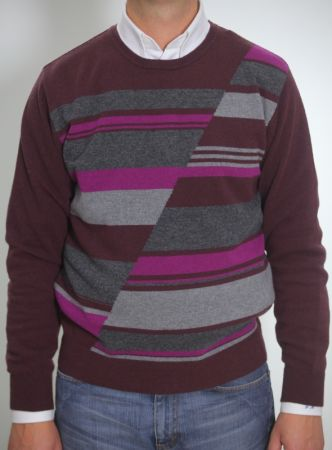 Round neck cashmere sweater bramante and wool