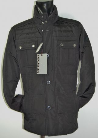 Piumino field jacket milestone nero