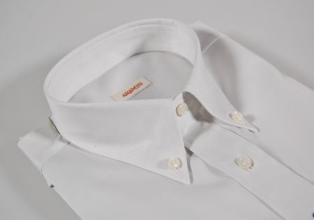Pearl Grey shirt with button-down collar aramis