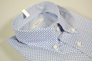 Camicia ingram stampa azzurra collo button down