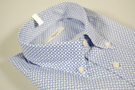 Blue print shirt ingram button-down collar