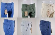 Super slant pocket pants with slim bsettecento in 5 colors