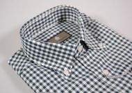 Button down plaid shirt duca visconti