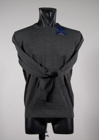 Maglione a giro collo in misto lana pettinata mg in quattro colori