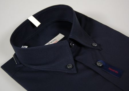 Dark blue shirt ingram cottonstir button down collar