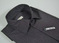 Ingram micro shirt slim fit grey black bordeaux drawing