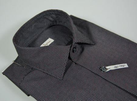 Ingram micro shirt slim fit grey black bordeaux drawing
