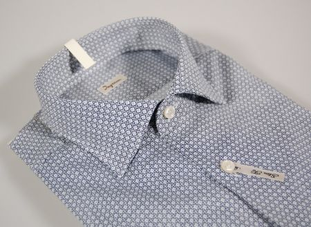Camicia ingram slim fit fantasia blu e celeste