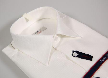 Camicia ingram bianca no stiro cotone operato vestibilità regolare