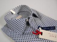 Camicia slim fit regent by pancaldi a fantasia blu stretch