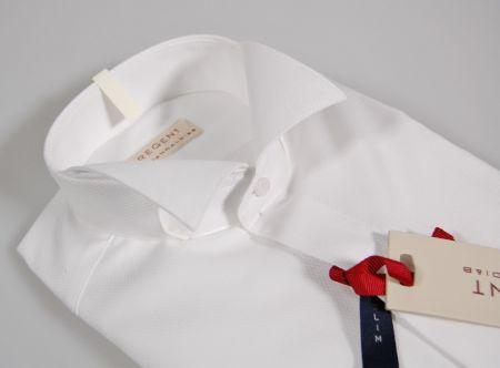 Camicia elegante cerimonia pancaldi collo diplomatico polso doppio slim fit