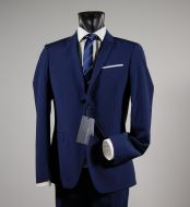 Abito slim fit john barritt blu marine due bottoni petto a lancia