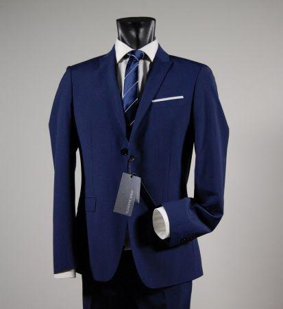 Navy slim fit two button chest john barritt lapels