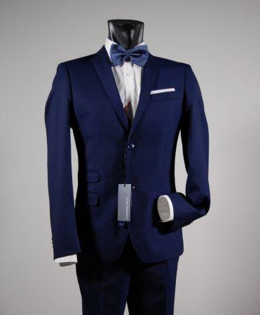 Slim fit blue suit john barritt ticket pocket
