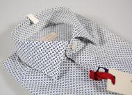 Camicia regent by pancaldi slim fit cotone stretch stampa a fiori blu