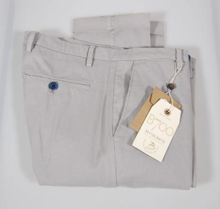 Pantalone in cotone stretch micro fantasia bsettecento in tre colori
