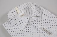Blue polka dot shirt slim fit 100% cotton ingram