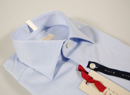 Camicia slim fit azzurra regent by pancaldi in cotone operato