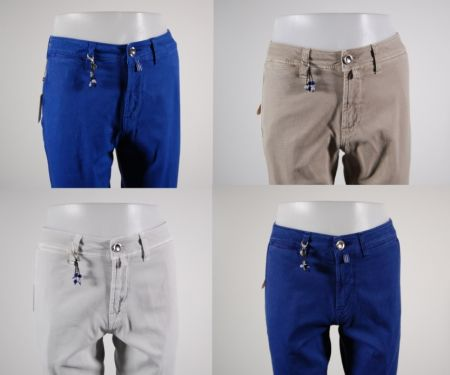 Fancy cotton slim fit stretch pants 4 color fradi