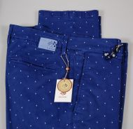 Polka dot slim fit stretch cotton pants fradi in two colors