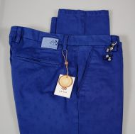 Pantalone fradi slim fit jacquard stretch in due colori