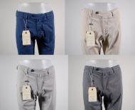 Pantalone in cotone stretch smerigliato B700 in cinque colori