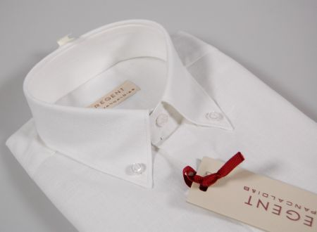 Linen and cotton button down shirt with Pocket
