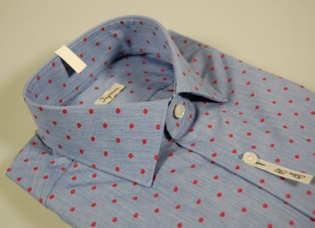 Blue slim fit shirt ingram with red design