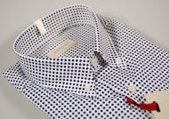 Button down shirt with polka dot pocket pancaldi in two colors