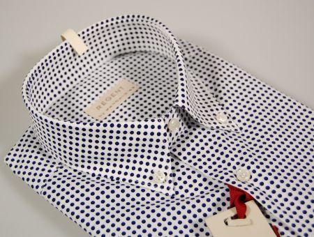 Button down short sleeve shirt with polka dots pancaldi