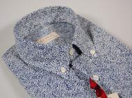 Camicia button down con taschino a pois irregolari