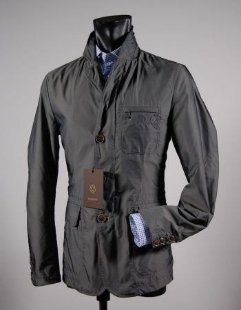 Giacca field jacket con toppe grigio milestone