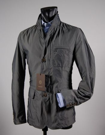 Jacket field jacket with grey patches milestone