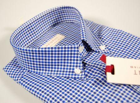 Checkered button down shirt blue and light blue pancaldi