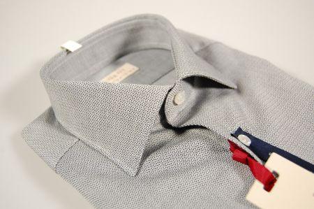 Camicia slim fit pancaldi cotone micro fantasia due colori