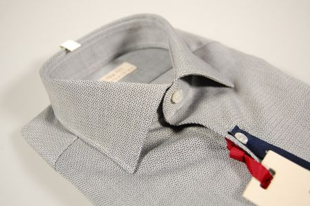 Two color patterned pachapur cotton slim fit shirt