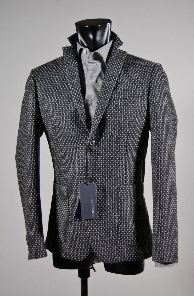 Jacket man gray unlined wool cashmere slim fit John Barritt 99eec7c29a9