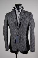Giacca slim fit john barritt grigia lana cashmere