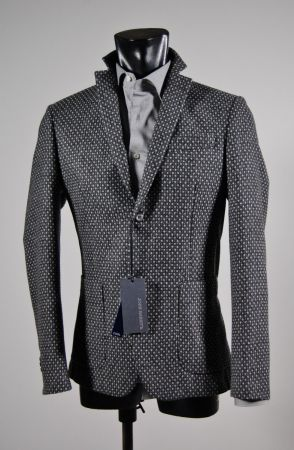 Grey cashmere wool john barritt slim fit jacket