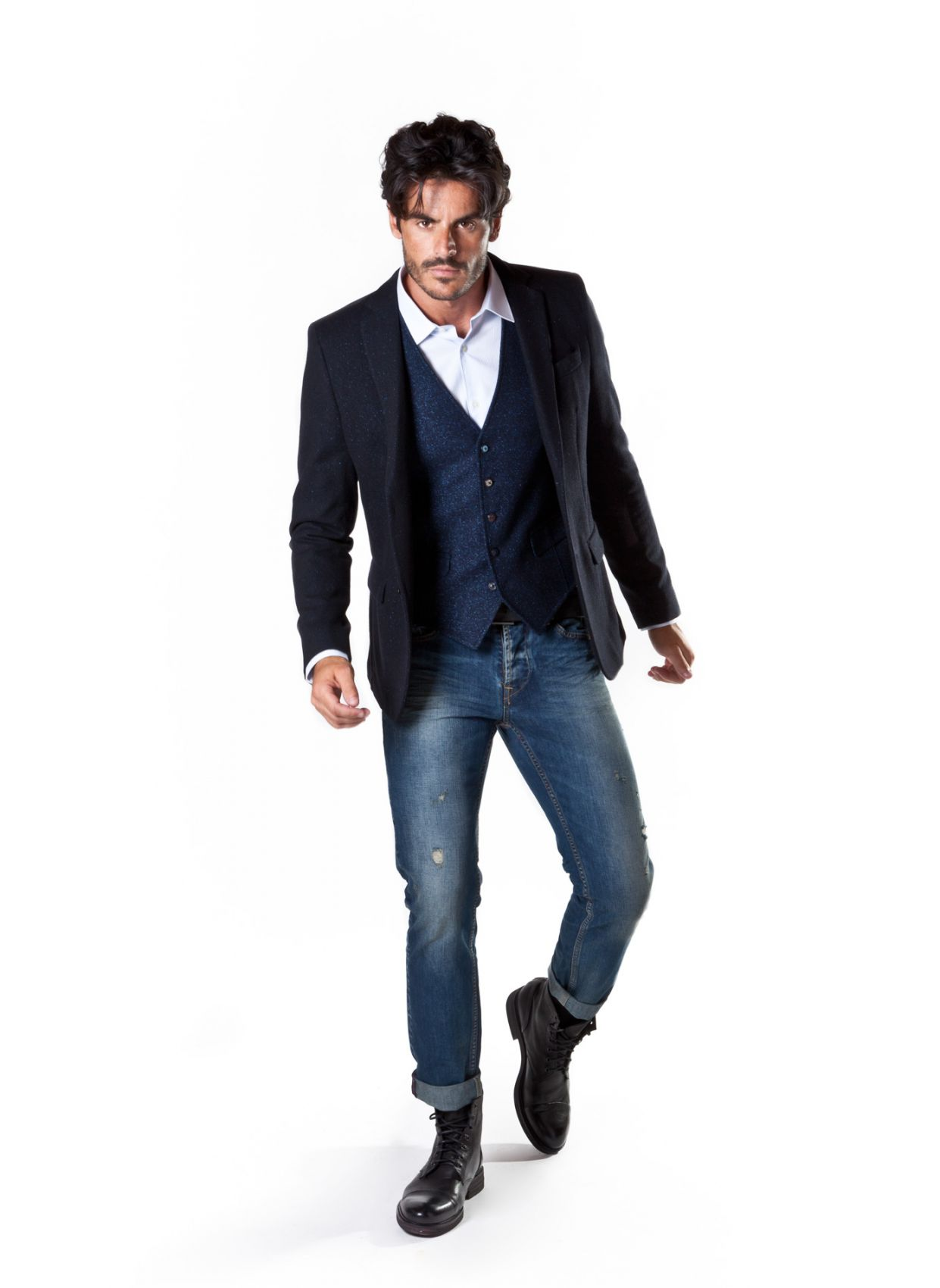 Fashion blue blazer John Barritt in wool and silk online outlet b40ddf17acb