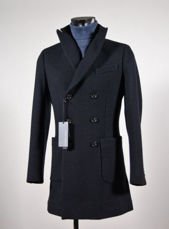 Blue coat fashion slim fit double breasted john barritt