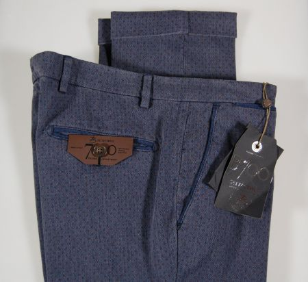 Slim fit trousers tiny patterns b700 in two colors