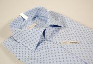 Camicia celeste micro fantasia ingram vestibilità slim fit