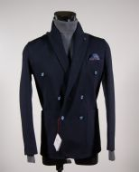 Fashion stretch slim fit jacket blue-breasted falko rosso