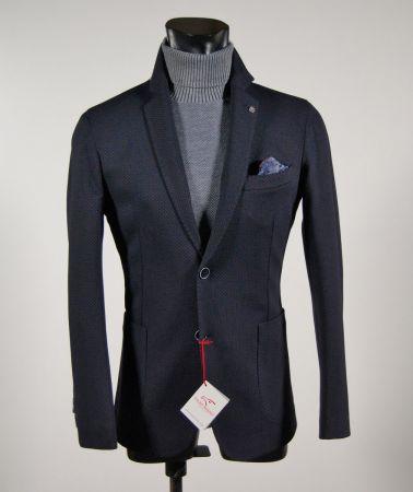 Unlined blazer micro blue fantasy falko rosso